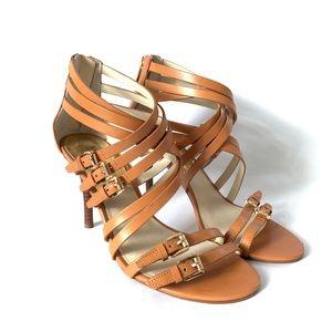 Michael Kors // Brown Strappy High Heels 8.5